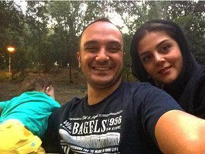 عکس احسان کرمی و همسرش