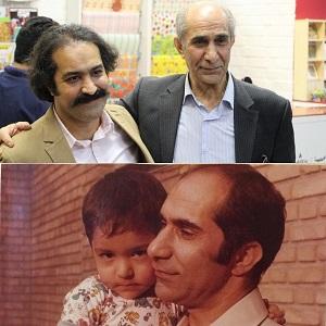 عکس افشین هاشمی و پدرش