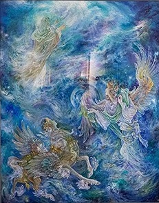 عکس تابلو آسمان چهارم فرشچیان