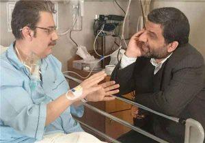 عکس رضا حسین زاده در بیمارستان