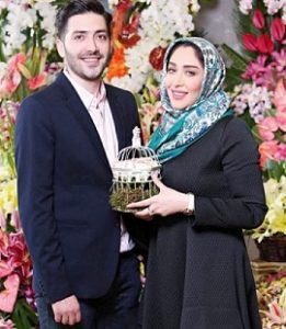عکس سارا منجزی و همسرش