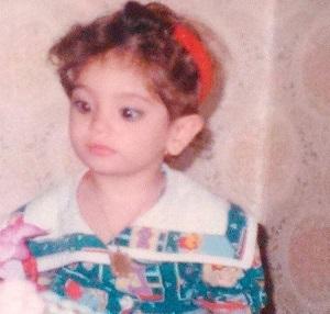 عکس مریم شاه ولی (مبینا در نفس شیرین) در کودکی