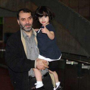 عکس مسعود ده نمکی و دخترش