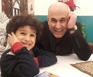 عکس مهرداد نظری و پسرش علی