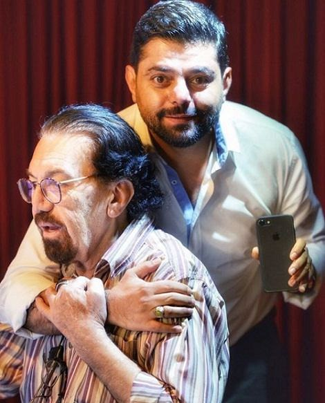 عکس ناصر چشم آذر و برادر همسرش شاهد احمدلو