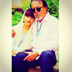 عکس ناصر چشم آذر و دخترش