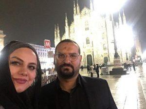 عکس نرگس آبیار و همسرش
