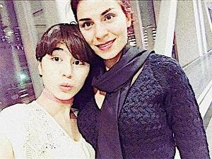 عکس همسر و دختر ناصر چشم آذر