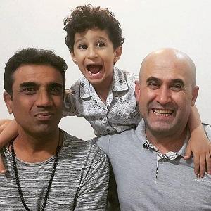 مهرداد نظری و پسرش در کنار نصرالله رادش