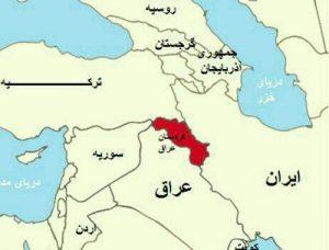 نقشه کردستان عراق