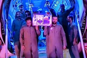تشییع جنازه شهید محسن حججی (ورود پیکر شهید حججی به ایران)