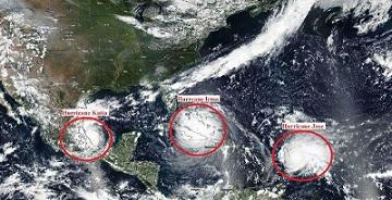 ۳ طوفان فعال