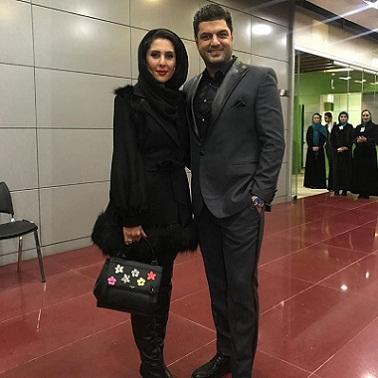 عکس سام درخشانی و همسرش عسل امیرپور