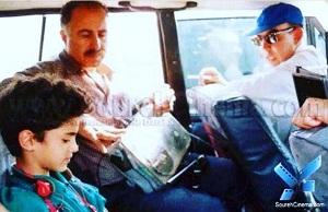 عکس سپنتا سمندریان در کنار ایرج کریمی