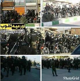 حضور نیروهای ضدشورش موتورسوار