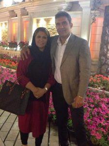 عکس احمدرضا عابدزاده و همسرش