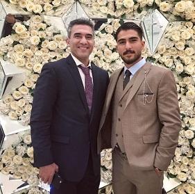 عکس امیر عابدزاده و پدرش احمدرضا عابدزاده
