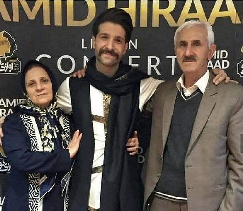 عکس حمید هیراد و پدر و مادرش