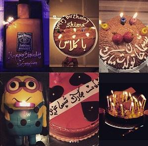 عکس شیما مرزی و کیک های تولدش - 5 شهریور 96