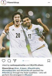 پست اینستاگرامی فیفا در مورد قرعه کشی جام جهانی ۲۰۱۸
