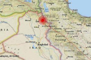 مرکز زمین لرزه شمال عراق