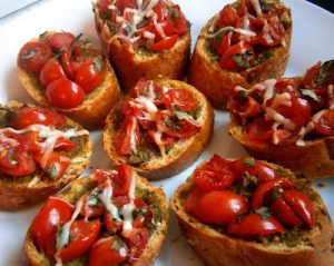 بروسکت گوجه فرنگی