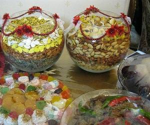 تزیین آجیل شب یلدا برای عروس