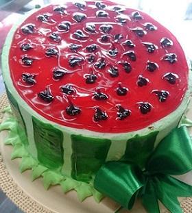 کیک شب چله (طرز تهیه کیک هندوانه شب یلدا)