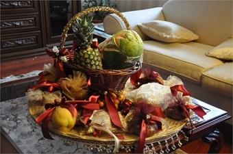 مراسم شب یلدا برای تازه عروس+ میوه آرایی و تزیین شب چله عروس
