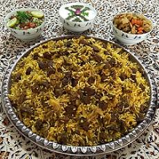 طرز تهیه کلم پلو شیرازی برای شام شب یلدا
