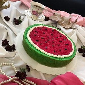 طرز تهیه کیک هندوانه