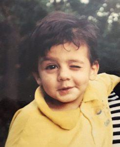 عکس امیرحسین افتخاری در کودکی