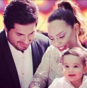 عکس رضا ضراب و همسرش و دخترش آلارا