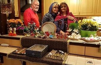 عکس سپیده خداوردی و پدر و مادرش
