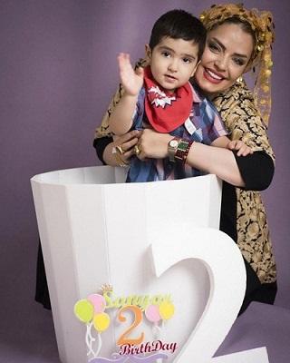 عکس سپیده خداوردی و پسرش