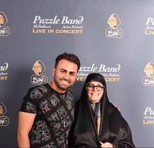 عکس علی رهبری و مادرش