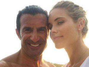 عکس لوئیس فیگو و همسرش