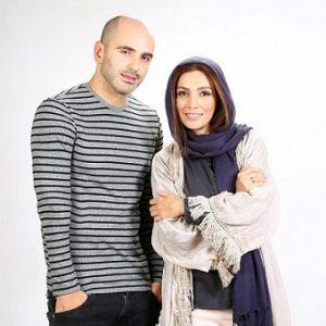 عکس لیلا زارع و پیام ایرانی
