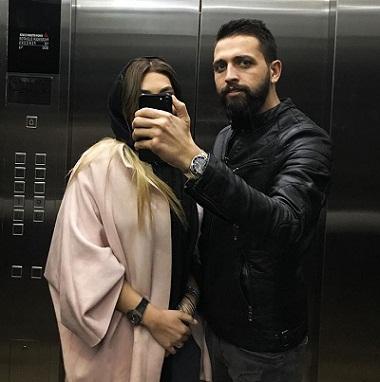 عکس محسن افشانى و همسرش