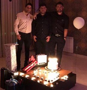 عکس محمدرضا گلزار در تولد حامد برادران