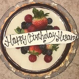 کیک تولد سام اصغری