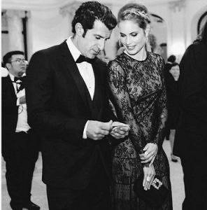 عکس و بیوگرافی لوییس فیگو و همسرش