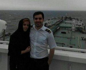 ساغی فعال به همراه همسرش حسین جهانی هل آباد