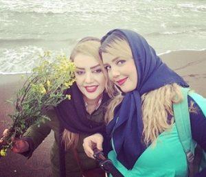 عکس المیرا حصاری خواهر الهه حصاری و مادرش