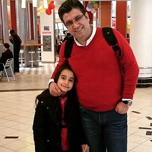 عکس رضا رشیدپور و دخترش هلن