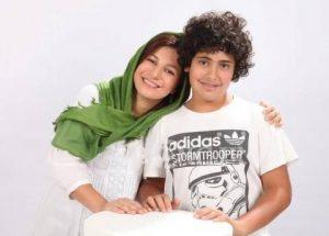عکس لیلی رشیدی و پسرش