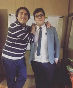 عکس مانی رهنما و پسرش