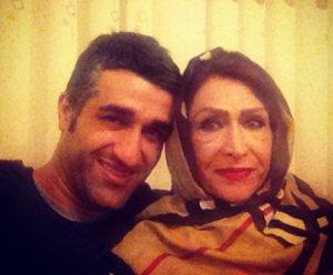 عکس پژمان جمشیدی و مادرش