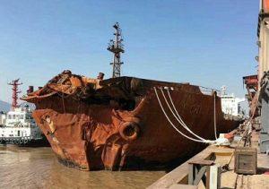 عکس کشتی باربر چینی که سانچی را غرق کرد