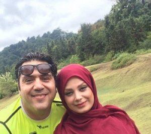 مانی رهنما و همسرش صبا راد